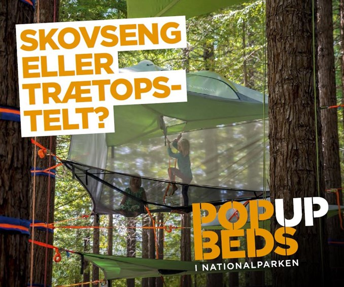 Overnatningskoncptet POP UP BEDS